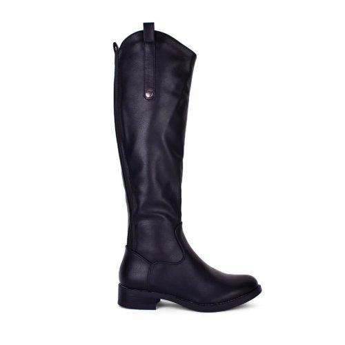 Χαμηλή μπότα σε μαύρο και καφέ χρώμα σε εκπληκτική τιμή! Μεγάλες προσφορές σε γυναικεία παπούτσια! My Way Shoes, Τσιμισκή 32 στη Θεσσαλονίκη!