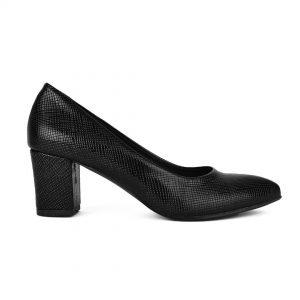Μαύρη μυτερή γόβα σε φίδι υλικό για σένα σε εκπληκτική τιμή! Βρες τώρα αυτό που σου ταιριάζει! Παπούτσια MyWayShoes, Τσιμισκή 32 στη Θεσσαλονίκη!