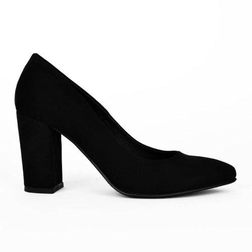 Μαύρη σουέτ γόβα, κατασκευής εργοστασίου μας. Γυναικεία παπούτσια σε εκπληκτική τιμή! Βρες τώρα αυτό που σου ταιριάζει! MyWayShoes Τσιμισκή 32 Θεσσαλονίκη!