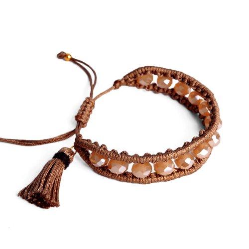 Χειροποίητο βραχιόλι με κρυστάλλινες χάντρες. Γυναικεία αξεσουάρ σε εκπληκτικές τιμές! Βρες τώρα αυτό που σου ταιριάζει! MyWayShoes στη Θεσσαλονίκη!