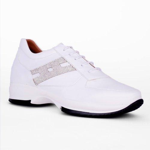 Γυναικείο sneaker με κορδόνια και διακοσμητικό, κατασκευής εργοστασίου μας. Βρες τώρα αυτό που σου ταιριάζει! MyWayShoes, Tsimisk;h 32 στη Θεσσαλονίκη!