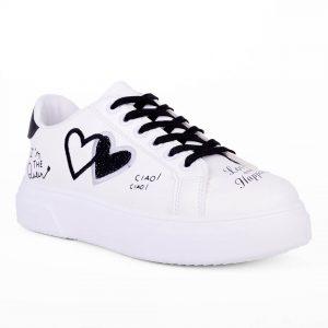 Λευκά Sneakers με σχέδια για σένα σε εκπληκτικές τιμές! Βρες τώρα αυτό που σου ταιριάζει! MyWayShoes, Τσιμισκή 32 στο κέντρο της Θεσσαλονίκης!