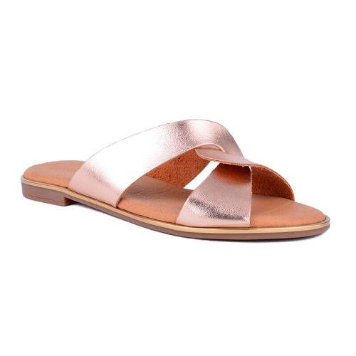 γυναικεία Flat παντοφλάκια με δέσιμο | Mywayshoes γυναικεία παπούτσια θεσσαλονίκη